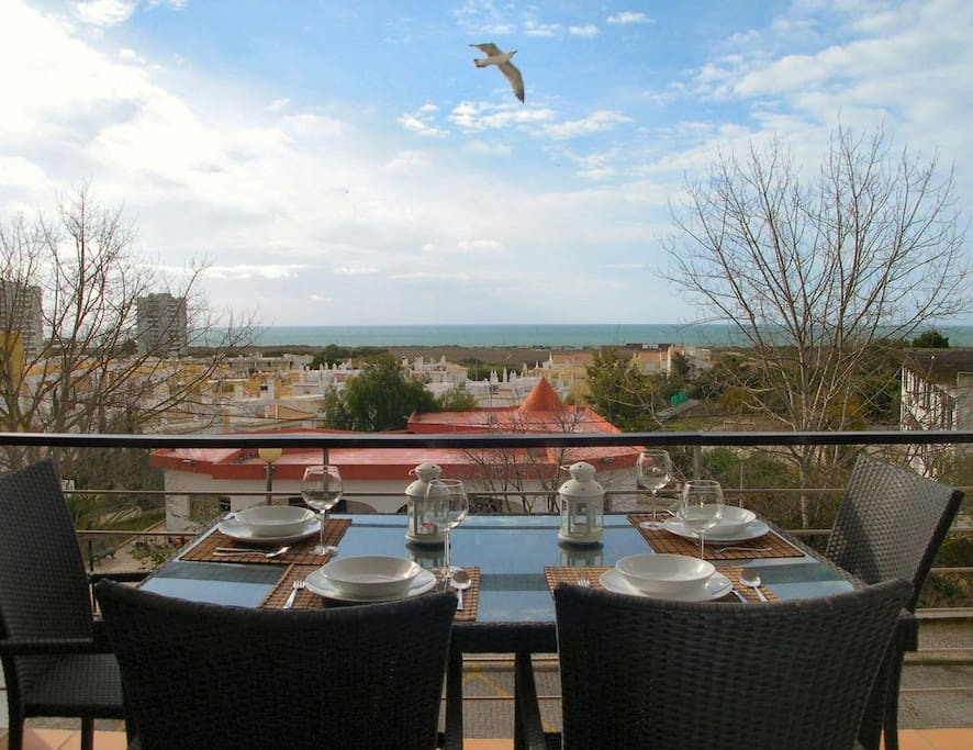 Sunny South facing terrace