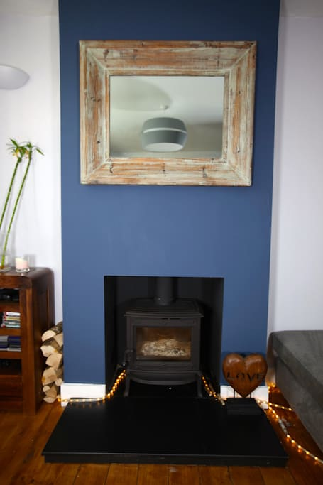 new wood burner just in time for xmas