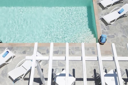 AnamarBlu Jr Suite with SeaView,Pool and breakfast - Ornos