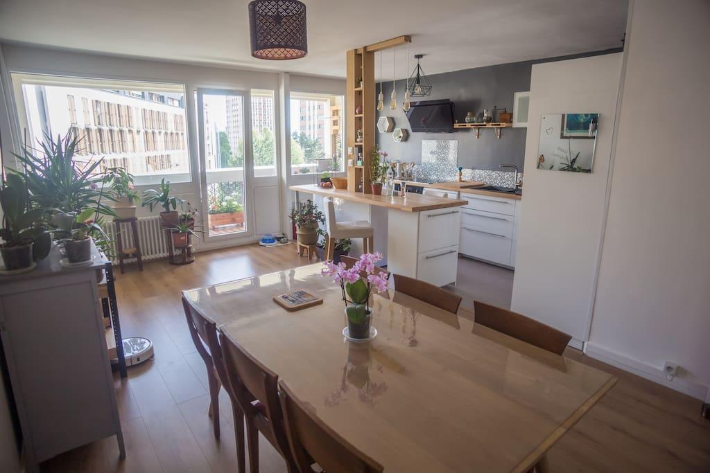 Salon / cuisine - Living room / kitchen