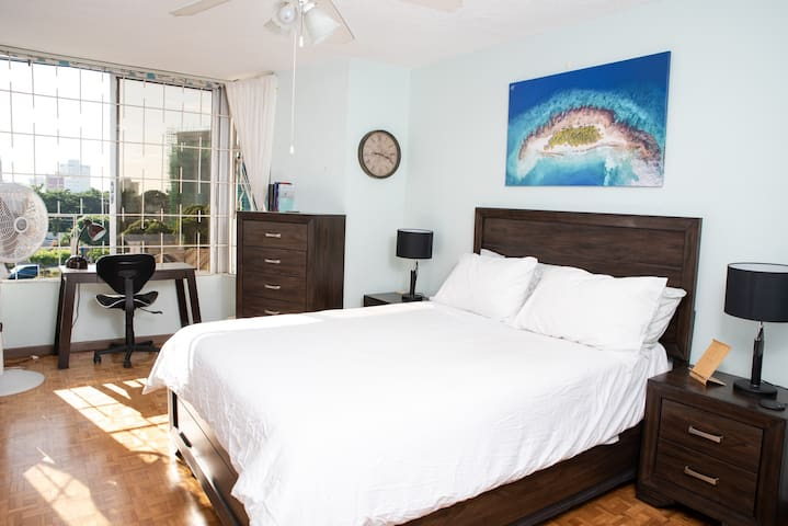 New Kgn 2 Br Apt. Central, Fast WIFI, AC & Pool