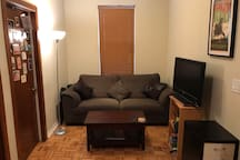 Very comfy couch. Great for a bed or to warch tv
