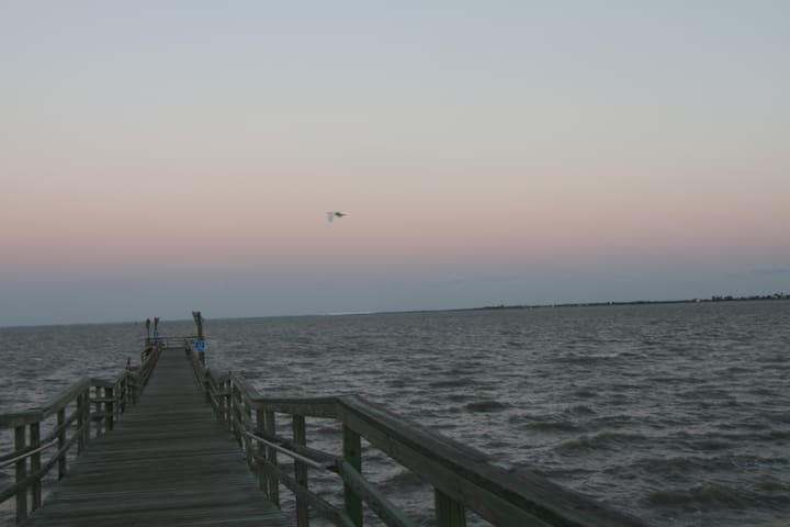 """Porchspective"" on Copano Bay"