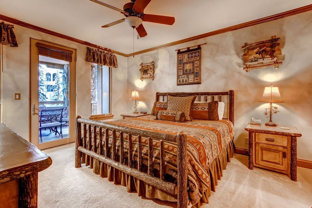 Get a good night's sleep in the master bedroom.