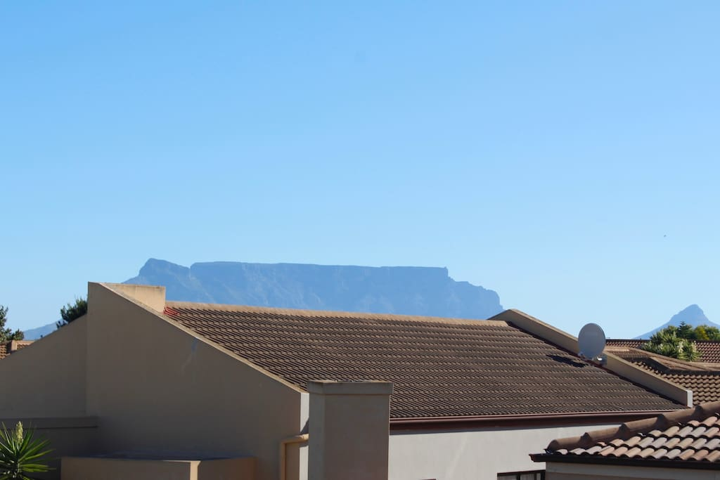 View of Table Mountain from the upstairs balcony.