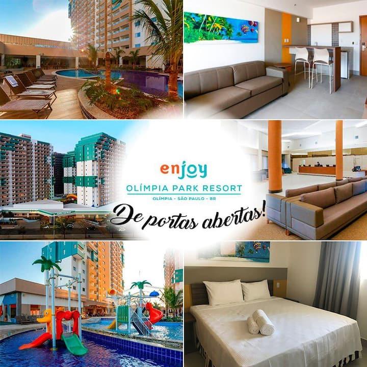 Olimpia Park Resort - Em frente ao Thermas