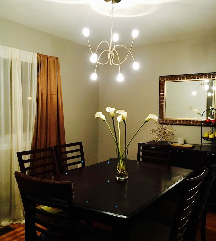 Dinning room , kitchen and 1/2 bath are available in the main level