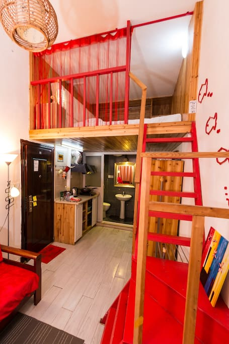 Lofted bedroom - the authentic Shanghai lane house experience