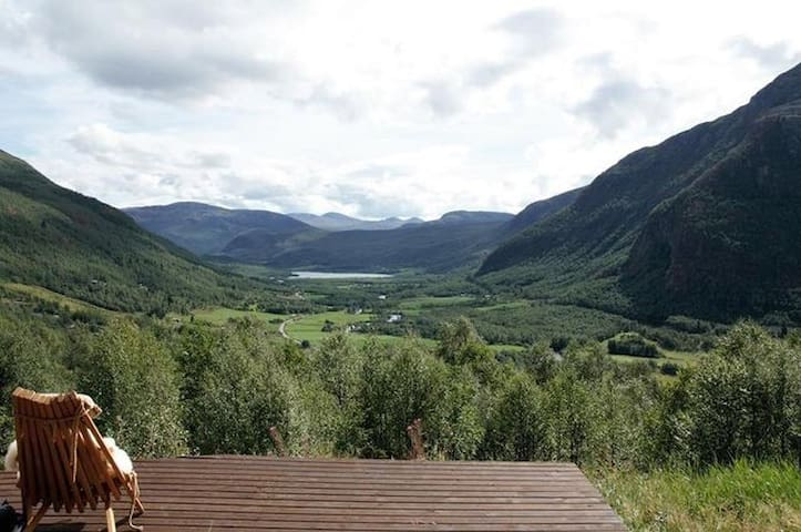 Traditional Hemsedal family cabin spectacular view