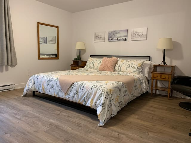 Grande chambre avec lit King/ large bedroom with King size bed