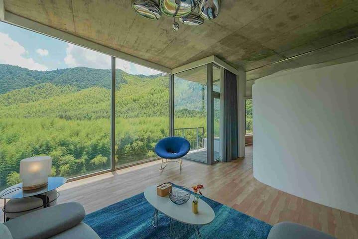【莫干山课间度假】全景大套房B302/周边有莫干山风景区、裸心谷/设计感十足体验极致的竹林远山景观