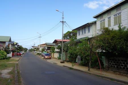 Koloniaal huis in het centrum van Paramaribo