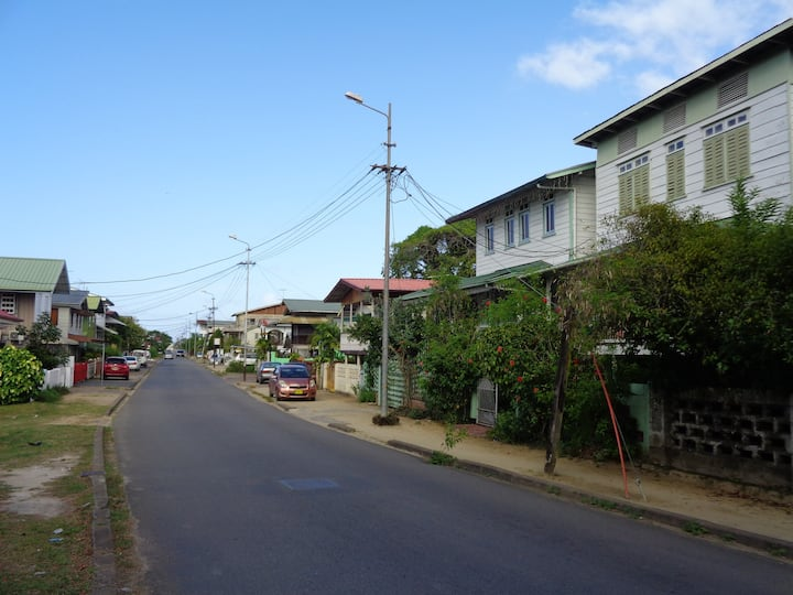Colonial Dutch house in the center of Paramaribo