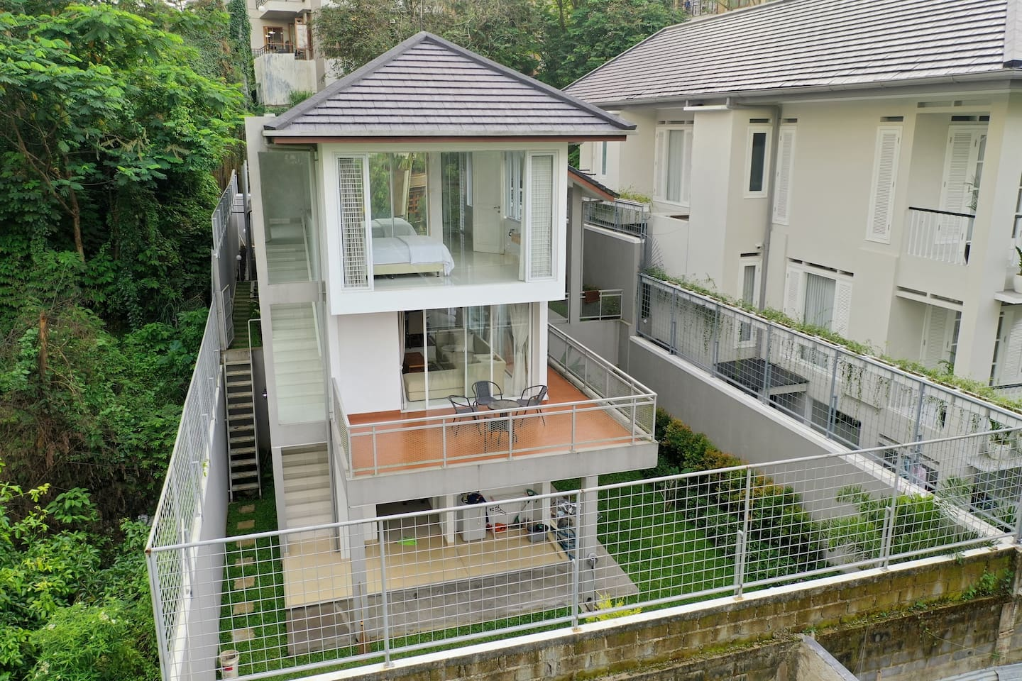 3 separate floors with beautiful garden