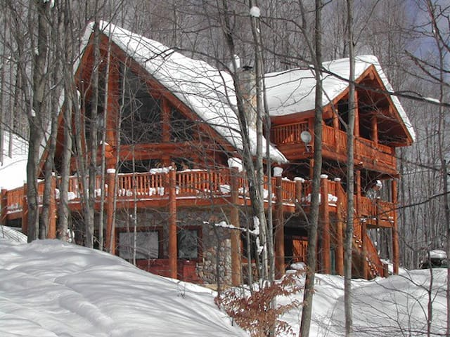 Schuss Mountain Ski-in / Ski-out custom log home - Bellaire - Dom