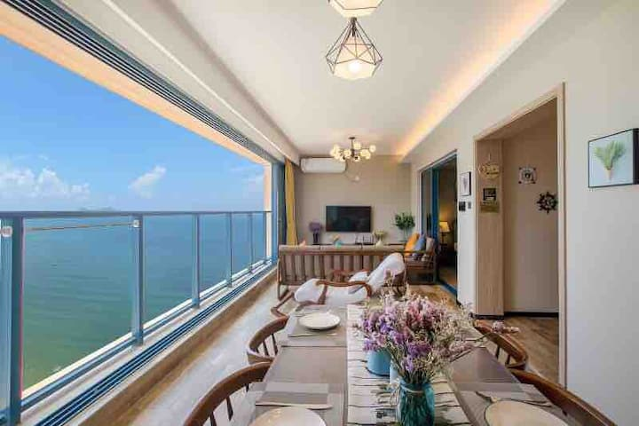 惠州万科双月湾一线度假豪华尊贵高层海景房观海居