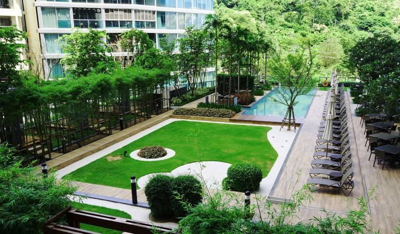 1【空中花园】UNIXX 自带大阳台、空中花园泳池 - Pattaya - Departamento