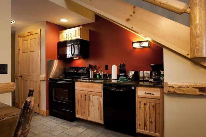 Lovely Roaring Brook Suite with Log Cabin Inspired Decor