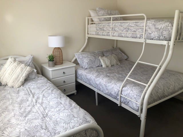 Bedroom 3 - Double and 2 x single beds