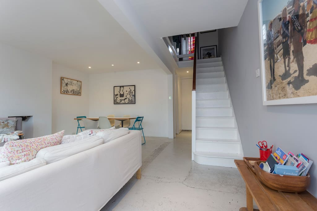 Stairs leading to Upstairs and bedrooms