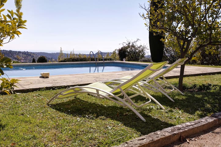 Lovely house splendid view, pool - Vence - Ev
