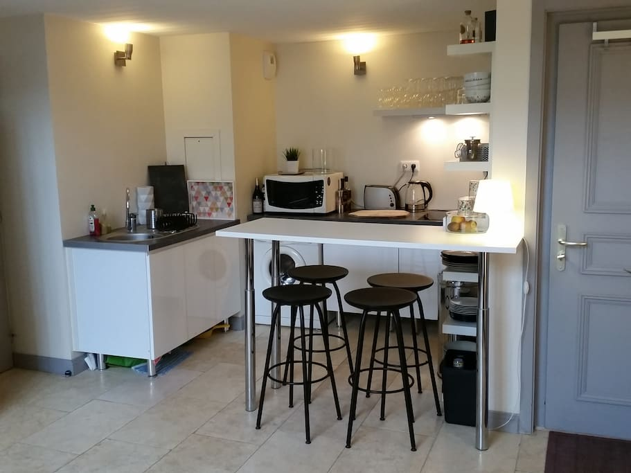 La cuisine ouverte sur séjour