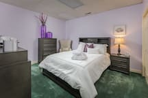 Okra Suite with Queen size bed and bath down the hall