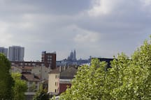 Une des vues de la terrasse.