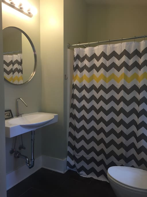 Private Downstairs bathroom for this listing