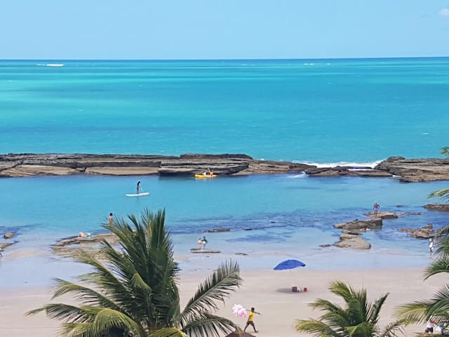 Lindo Flat na beira mar de Carneiros - Tamandaré - Apartemen
