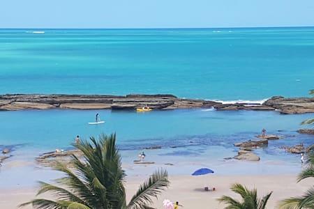 Lindo Flat na beira mar de Carneiros - Tamandaré
