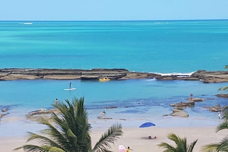 Lindo Flat na beira mar de Carneiros - Tamandaré - อพาร์ทเมนท์
