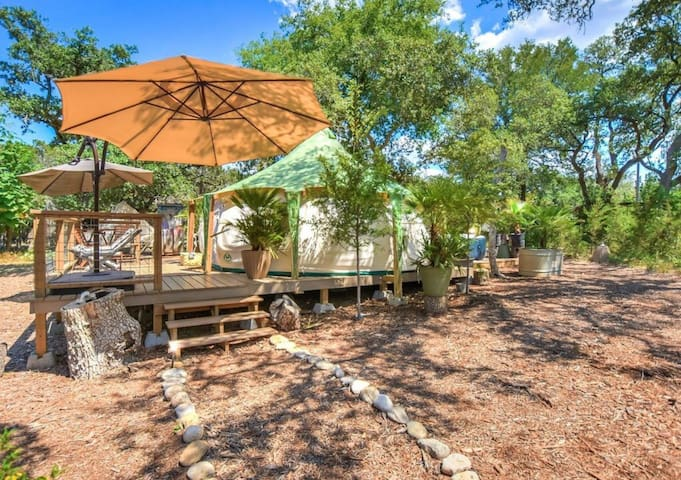 Glamping Lotus Tent -  Hill Country - Sleeps 2-4