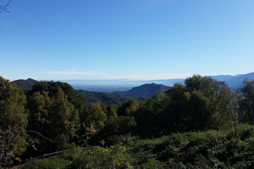 La vista salendo all'Alpe