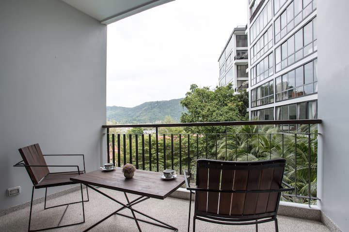 Luxury 45sqm Studio⧩Renovated⧩500m Kamala Beach