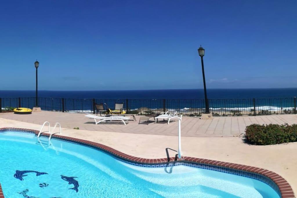 Swimming pool and sun deck