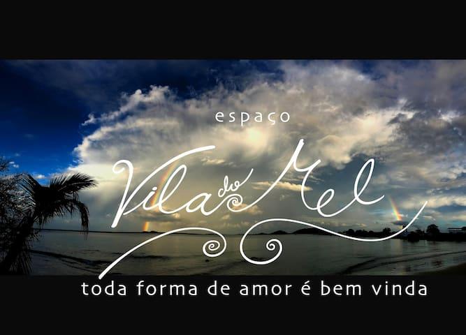 Chalé pé na areia em Vila do Mel de  frente a Ilha