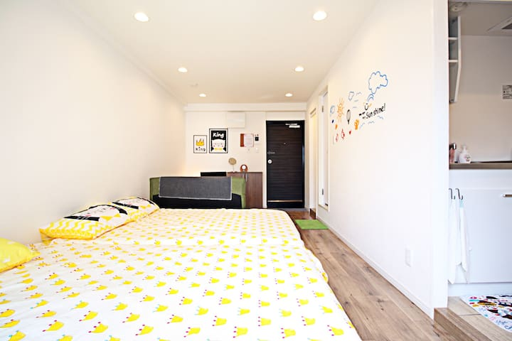 New 1-bedroom apt @Chiyoda for 5 ppl - Chiyoda-ku - Apartment
