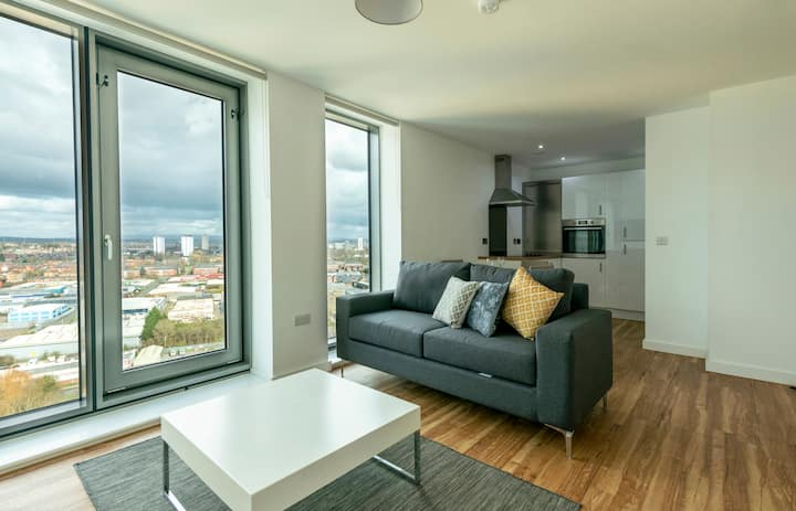 Media City Lovely Apartment with amazing views of the city