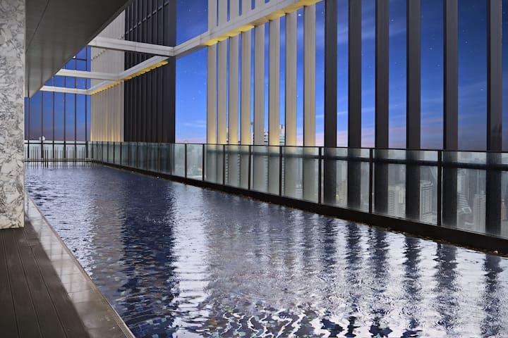 T6 26L High-Rise Sky Pool/WIFI/BTS/GYM/NewCondo