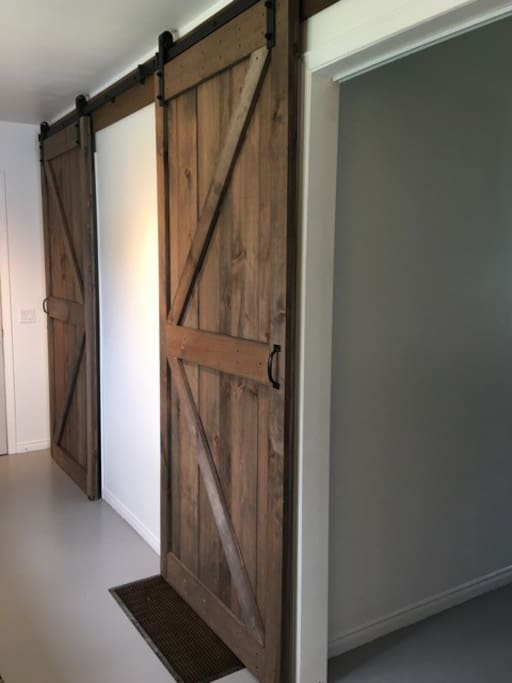 Barn Doors to Bedrooms