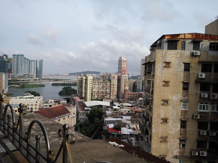 View from the living room to Nam Van Lake