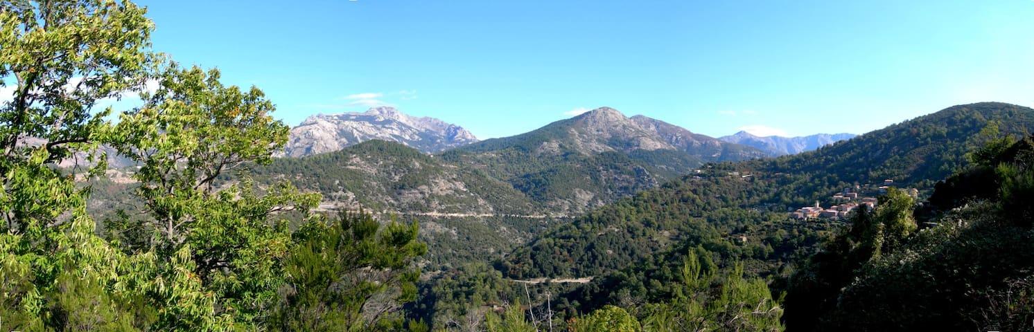 Charmante maison de village en montagne - Marignana - Huis