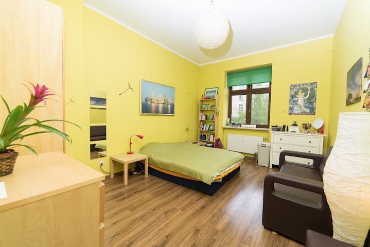 Cozy and spacious room in a redesigned flat - Wrocław - Apartament
