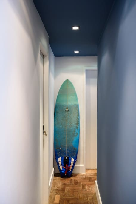 You can rent the surfboard if you want.