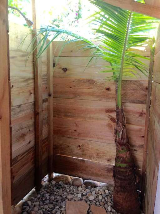 Cool off in our semi outdoor shower
