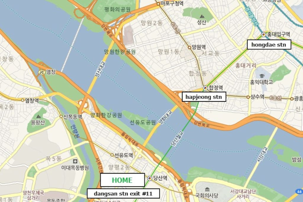My house is located near Hongdae