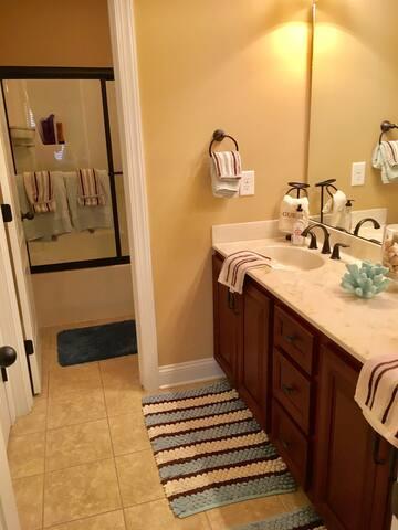 Private upstairs bathroom