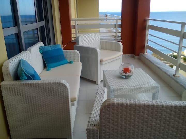 Saranda, seafront 1 bedroom apartment 72 m2