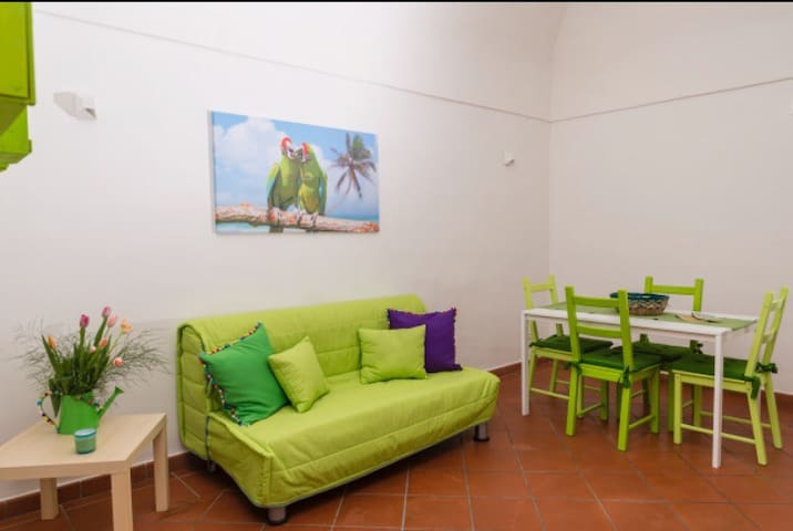 Cucina soggiorno tropical suite